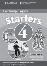 Cambridge English Starters 4 Answer Booklet,
