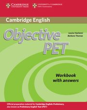 Objective PET Workbook with answers, Hashemi Louise, Thomas Barbara