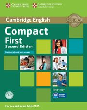 Compact First Student's Book with Answers+ CD, May Peter