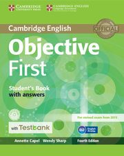 Objective First Student's Book with Answers with CD-ROM with Testbank, Capel Annette, Sharp Wendy