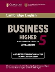 Cambridge English Business Higher 5 Student's Book with Answers,