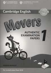 Cambridge English Movers 1 Authentic Examination Papers Answer booklet,
